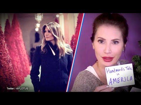"Liberals HATE Melania Trump's ""Handmaid's Tale"" White House Christmas decorations | Amanda Head"