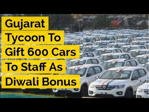 Gujarat Tycoon To Gift 600 Cars To Staff As Diwali Bonus | ABP News