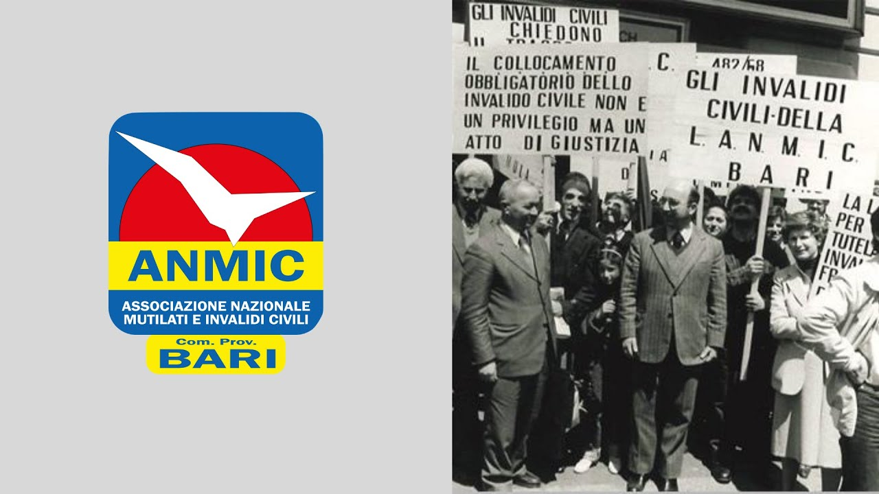 ANMIC Bari una storia nata nel 1956 sempre a tutela delle persone con disabilità