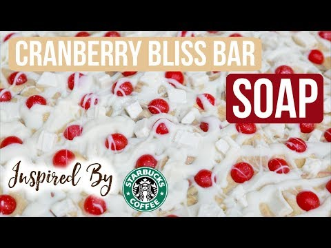 Cranberry Bliss Soap - Inspired by Starbucks ❄️2018 Holiday Collection | Royalty Soaps