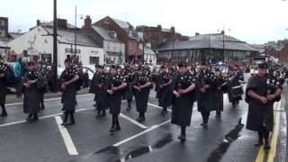Lochmaben Pipe Band Dumfries Gala 2013