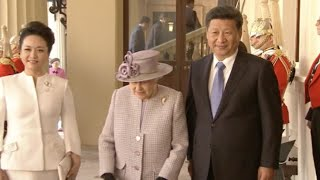 """Britain Holds Royal Welcome for Chinese President on """"Super"""" State Visit"""