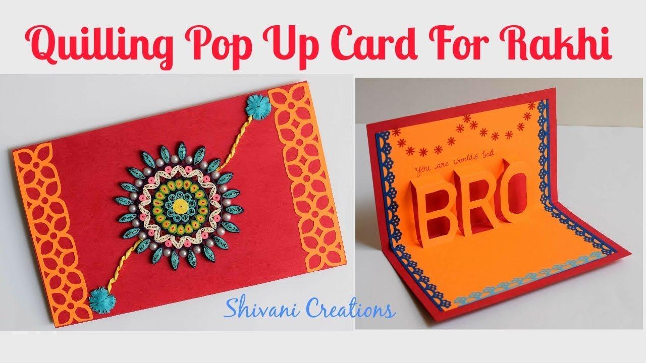Quilled Rakhi Card for Brother/ DIY Rakshabandhan Card ...