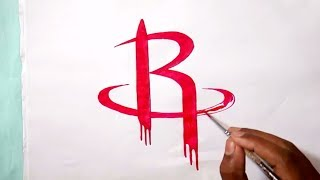 How to draw the Houston Rockets logo