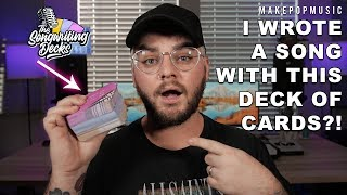 I MADE A SONG WITH THIS DECK OF CARDS?! The BEST new songwriting exercise! | Make Pop Music