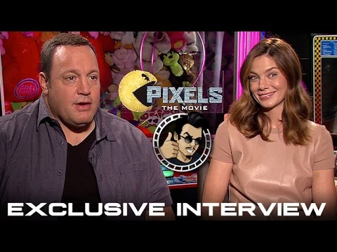 Michelle Monaghan and Kevin James Interview - Pixels (HD) 2015