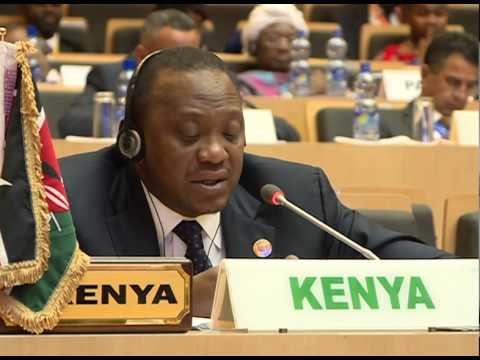 KENYA'S EBOLA FIGHT - PRESIDENT KENYATTA'S SPEECH IN AU