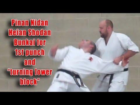 "Practical Kata Bunkai: Pinan Nidan / Heian Shodan Turning ""Lower Block"""