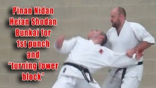 "Practical Kata Bunkai: Pinan Nidan / Heian Shodan Turning ""Lower Block"""