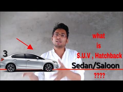 Type of cars(hatchback, sedan, s.u.v)