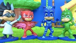 Pjmaskeliler oyuncak figür seti açıyoruz. Pjamaskeliler oyuncakları Niloya Heidi Maşa ile tanışıyor.