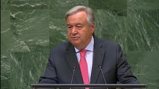 "UN Secretary General Guterres: ""Our world is suffering from a bad case of trust deficit disorder"""