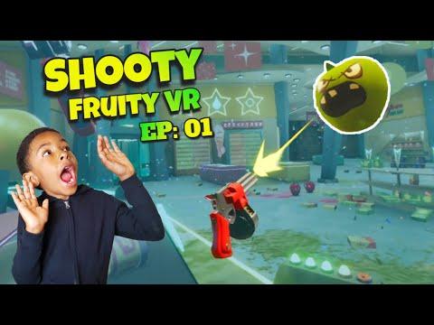 Shooty Fruity PSVR Gameplay - Let's Play Shooty Fruity VR   BLAST THE CRAZY FRUIT  