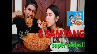 Gila!! | Makan 8 Bungkus Samyang Super Pedes Ft Shely Che