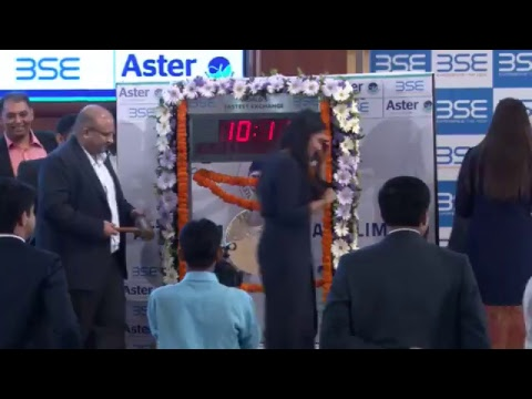 Aster DM Healthcare IPO Listing Ceremony from Bombay Stock Exchange
