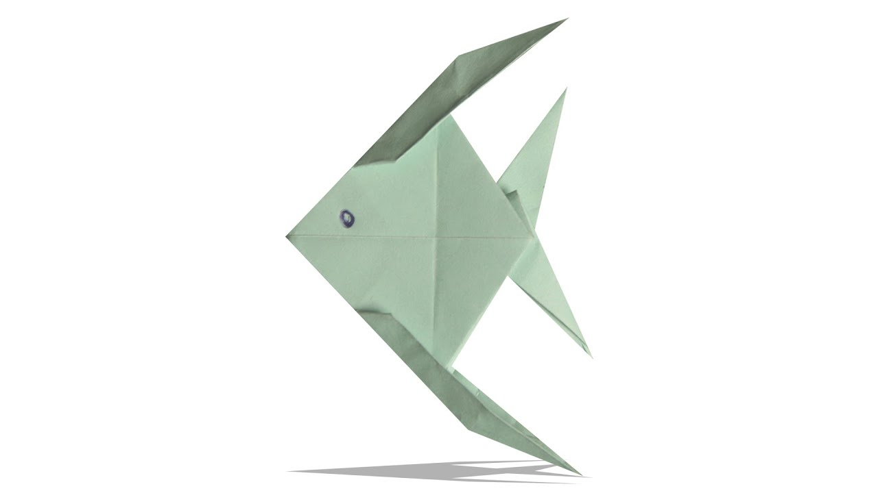 3D Origami Fish | DIY Origami Fish | Learn Origami | How ... - photo#24