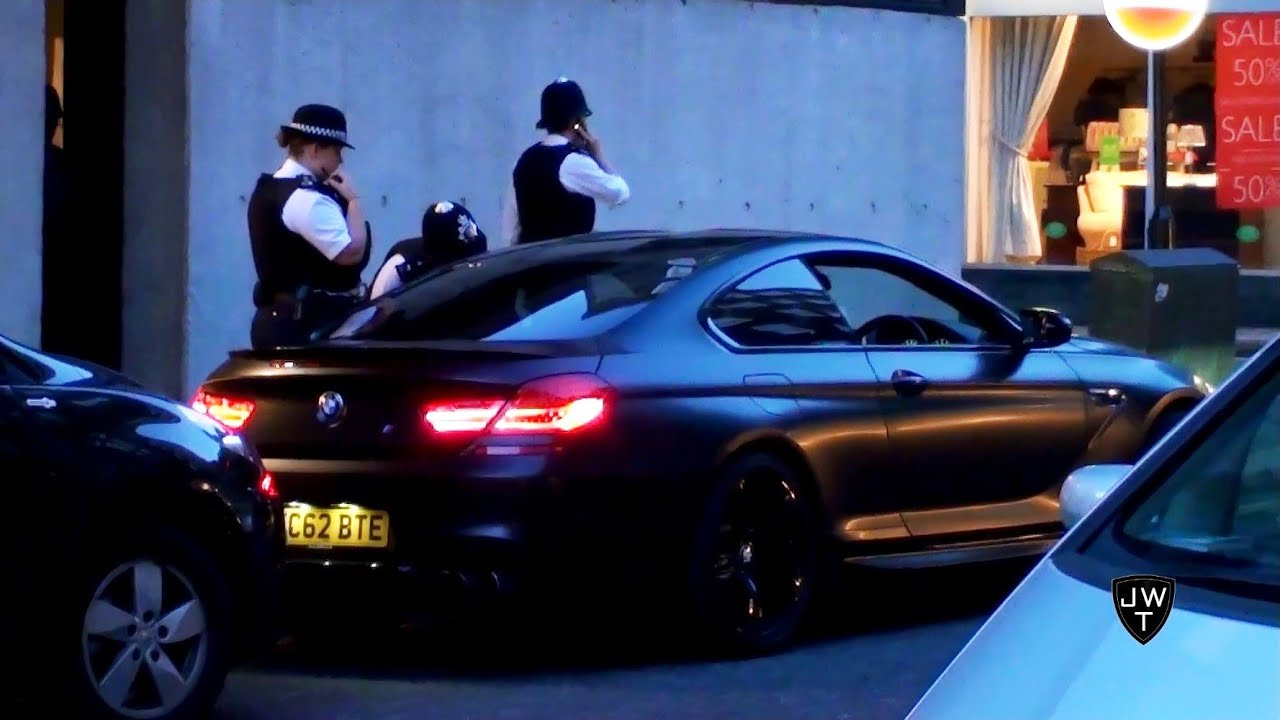 Matte Black BMW M6 F12 Pulled Over By The Police in London! & Accelerations!