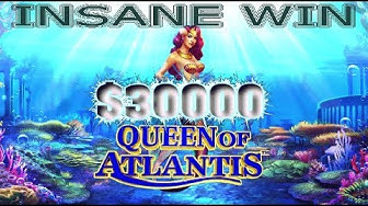 $30000 Huge Win | Queen Of The Sea | Slot Machine | Emu Casino