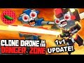 CLONE VERSUS CLONE MULTIPLAYER ACTION! -- Clone Drone in the Danger Zone (1v1 Multiplayer Mode!)