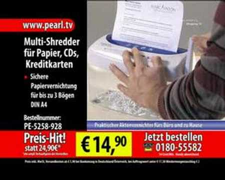 Multi-Shredder für Papier, CDs und Kreditkarten