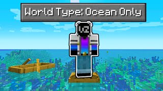 Can You Beat Minecraft in a World that's ONLY Ocean?