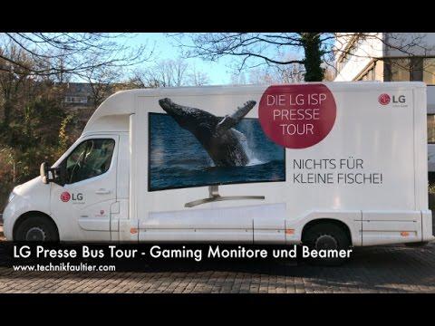 LG Presse Bus Tour - Gaming Monitore und Beamer