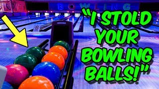 Calling Places Telling Them We Stold Their Bowling Balls!