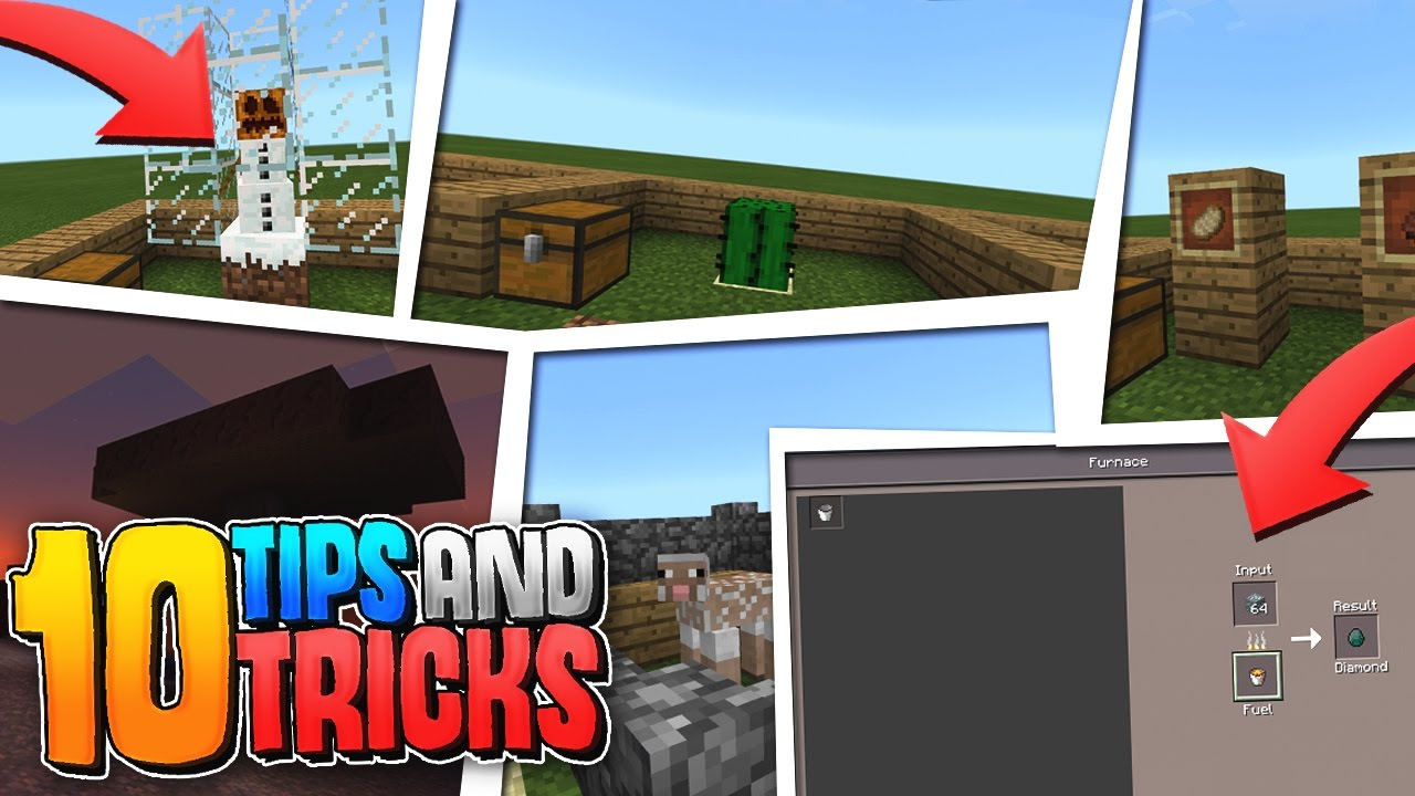Minecraft Creative Tips Tricks: 10 TIPS And TRICKS For SURVIVAL!!