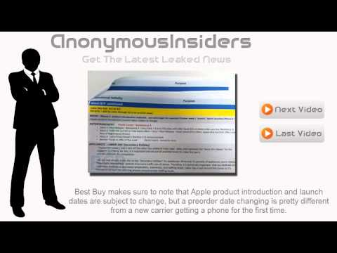 Best Buy iPhone 5 October Launch and Preorder Documentation