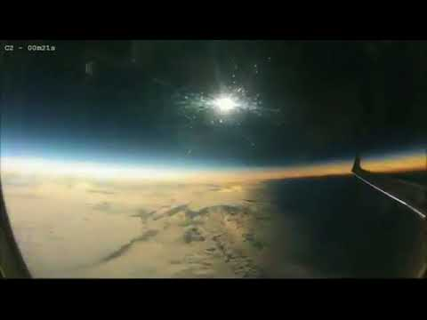 Solar Eclipse Caught From Plane