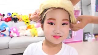 디즈니 공주 드레스 입고 페이스 페인팅 놀이도 해봤어요! Disney Princesses Kids Makeup