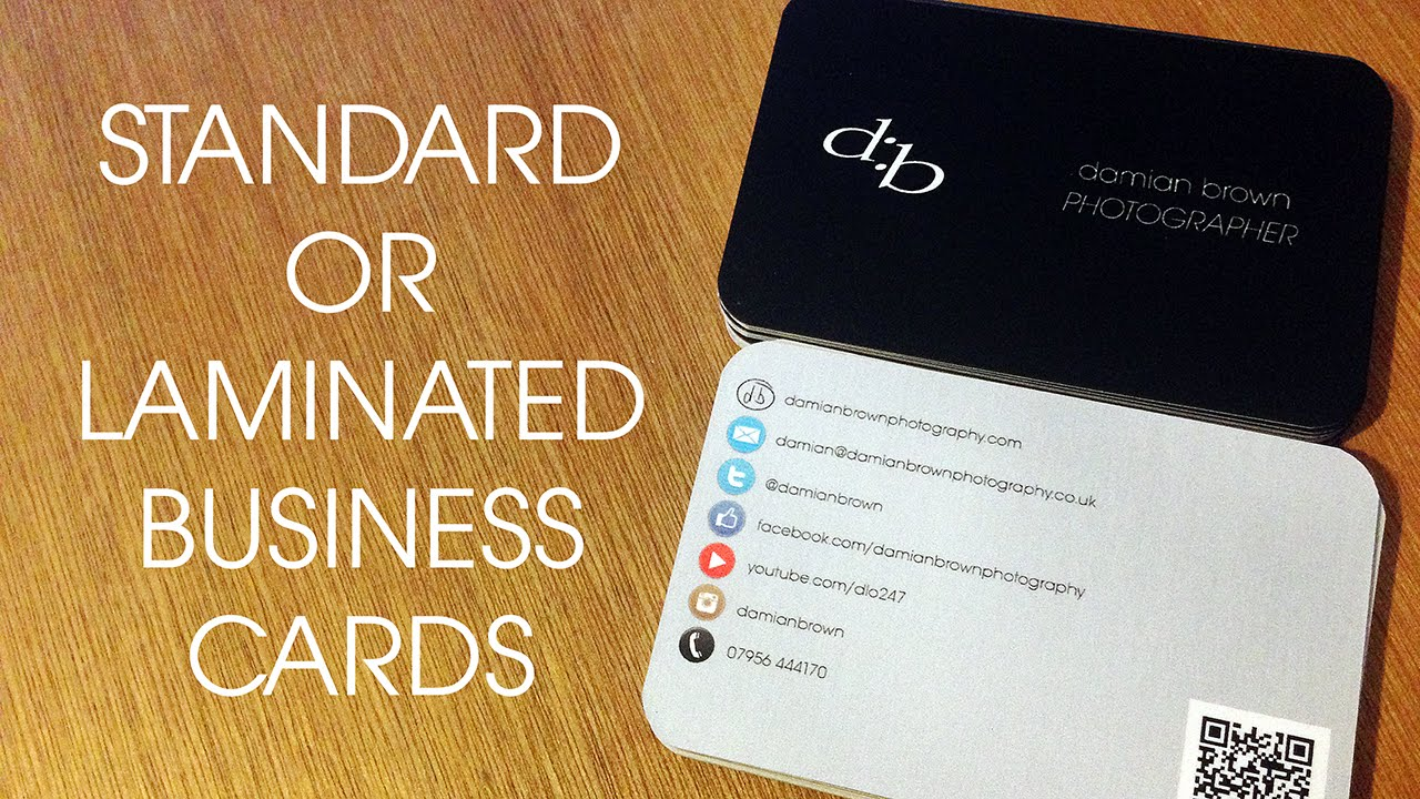 Standard vs laminated business cards youtube standard vs laminated business cards reheart Images