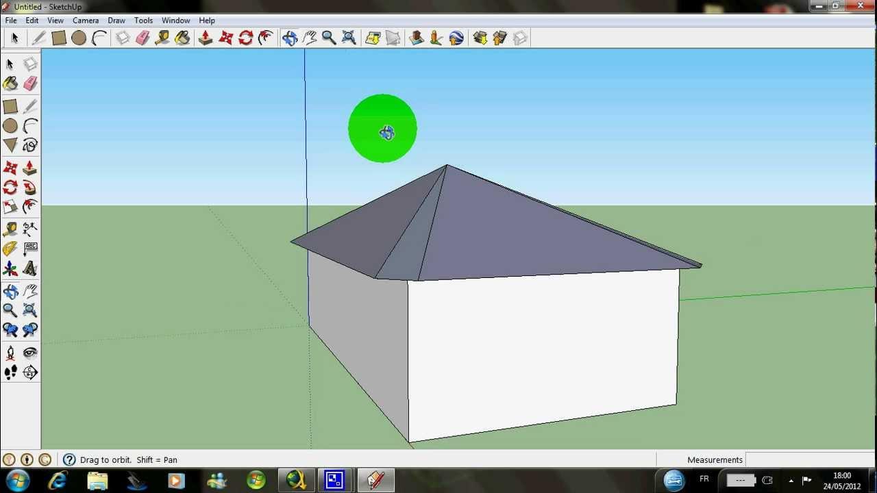 r aliser un toit facile avec sketchup pour la technologie. Black Bedroom Furniture Sets. Home Design Ideas
