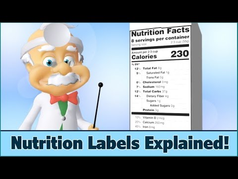 Nutrition Facts Labels - How to Read - For Kids - Dr. Smarty