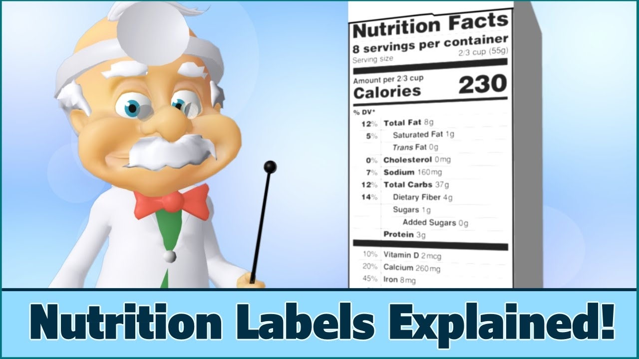 medium resolution of Nutrition Facts Labels - How to Read - For Kids - Dr. Smarty - YouTube