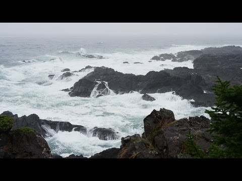 Som de Chuva e das Ondas do Mar - 4K Ultra HD - Relaxar, Med