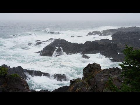 Som de Chuva e das Ondas do Mar - 4K Ultra HD - Relaxar, Meditar e Dormir
