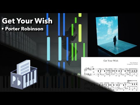 Get Your Wish - Porter Robinson [Piano Tutorial + Sheets/MIDI] (Synthesia) // Pianobin