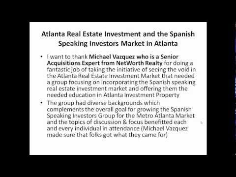 Atlanta Real Estate Investment Spanish Speaking Investors Meeting