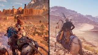 Assassins Creed Origins VS Horizon Zero Dawn | DETAILS COMPARISON | Comparativa