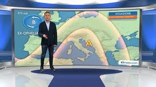 Ex Uragano Ophelia sullIrlanda, in Italia ancora Anticiclone e sole
