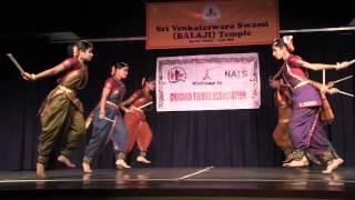 SRI VENKATESWARASWAMY TEMPLE, CHICAGO TELUGU ASSOCIATION, & NATS: DEEPA DANCERS: KOLATA