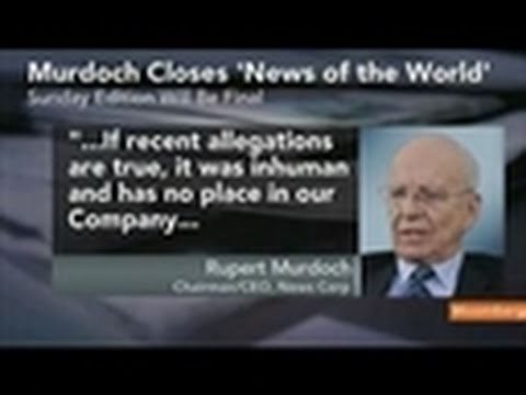 News of the World to Close After Phone-Hacking Scandal