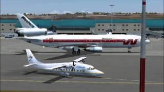 Western Airlines DC-10-30 arrives Aruba (FS2004)