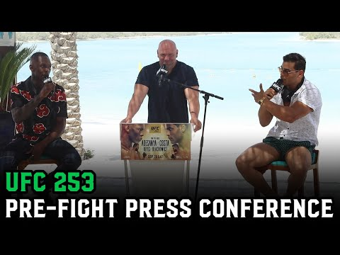 Israel Adesanya and Paulo Costa meet on the beach for UFC 253 Pre-Fight Press Conference: