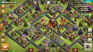 Clash of clans th 10 war attack 3 star gowivalky and hogs, ultimate attack, valkyrie attack