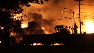 Amateur video captures Canada oil train explosion