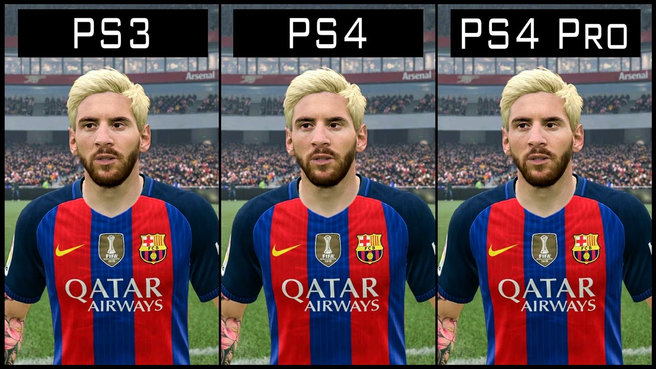 FIFA 17 PS3 vs PS4 Pro Graphics Comparison Manchester ... |Ps4 Graphics Vs Ps3 Fifa 14