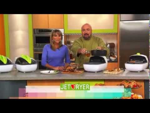 Kelly Diedring Harris co-hosts the Vitagy Jet Fryer infomercial with Marc Gill