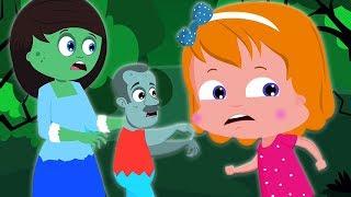 Город зомби | Хэллоуин | in English | Zombie Town | Umi Uzi Russia | русский мультфильмы для детей